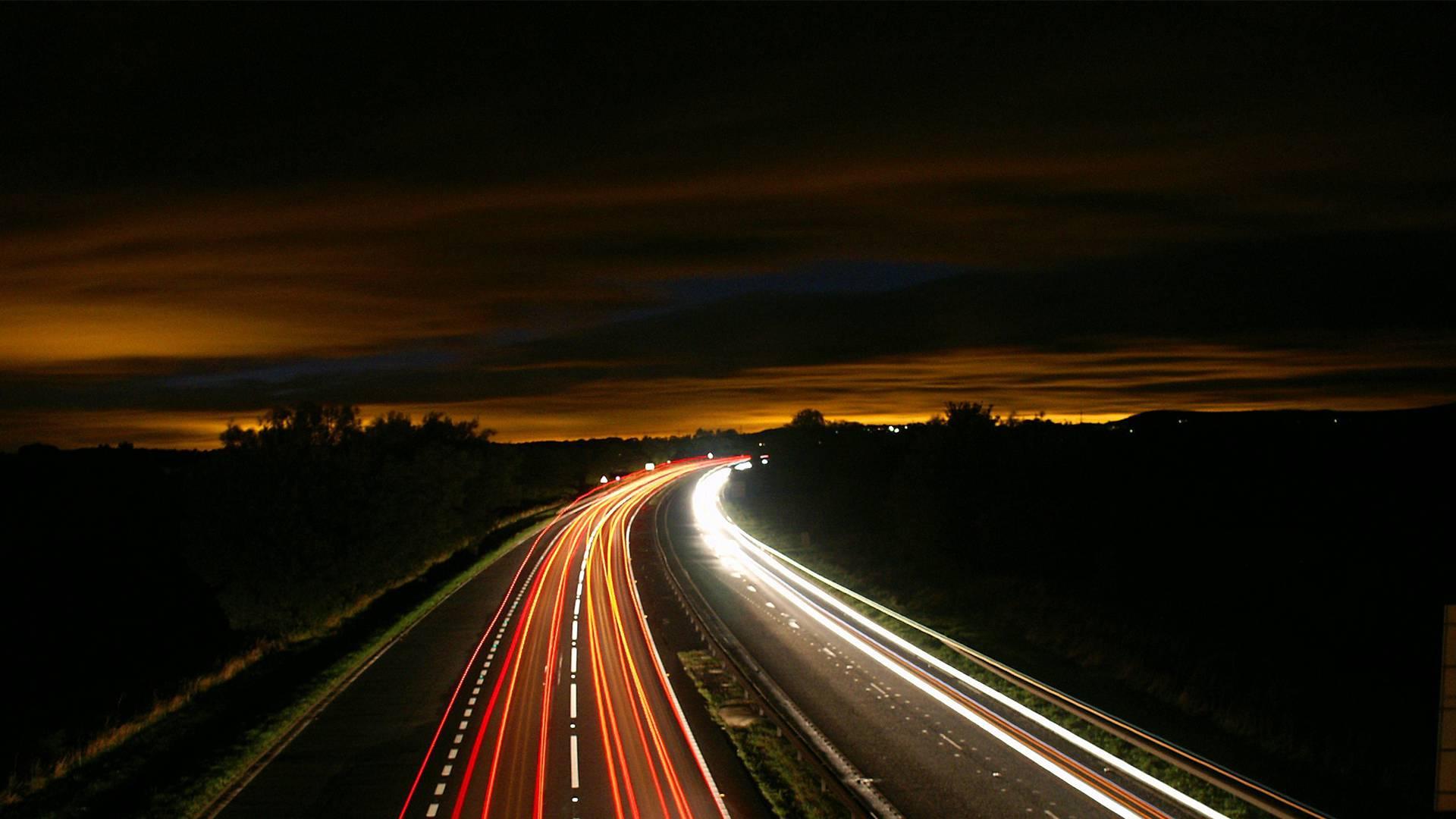 Autovía de noche